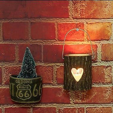 Succe Christmas Ornaments Christmas Wooden Candle Holder Christmas Baubles Desktop Decoration