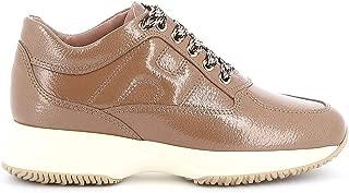 HOGAN Luxury Fashion Womens HXW00N00010LERC821 Brown Sneakers   Fall Winter 19