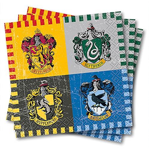 Unique Party Supplies 59101 Papierservietten - 13 cm - Harry Potter Party - Set mit 16 Stück