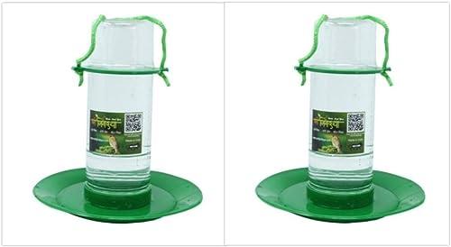 Amijivdaya Medium Bird Water Feeding Cage - Pack of 2 ( Green and Transparent )