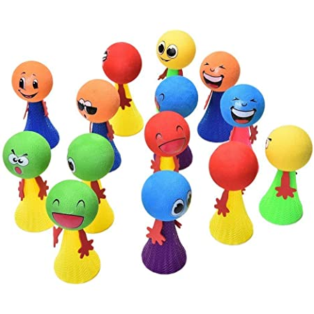 ROYALS Funny Jump ELF Toys for Kids 12pcs (Birthday Return Gift) + 10pcs Mix Printed Balloons.