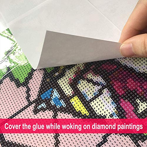 5D Diamond Painting Accessories Tools Kits 15X10 cm Release Paper Non-Stick Cover Replacement Sheet Diamond Painting Ideal Gift for Adults.