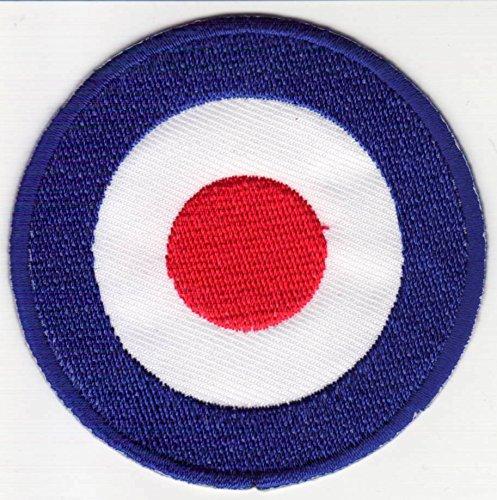 b2see Mod Logo Aufnäher Patch groß für Jacken Aufbügler zum aufbügeln Mod subculture 25 cm