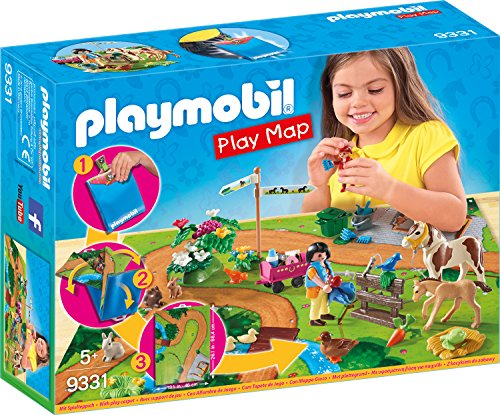 Playmobil- Play Map Giocattolo Passeggiata a...