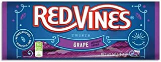 Red Vines Licorice, Grape Flavor Twists, Soft & Chewy Candy, 5oz Trays (12 pack)