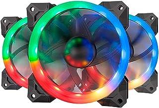 حقيبة كمبيوتر ريدراجون GC-F008 مروحة تبريد للكمبيوتر 120 مم مع جهاز تحكم عن بعد، RGB LED هادئة لتدفق الهواء عالي قابل للتع...