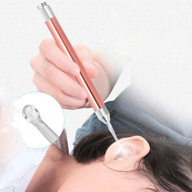 テーブルを設定する出身地神経障害Lindexs LEDライト付き耳かき 耳ケア ledライト付き 耳掃除 耳垢除去 光棒 はっきり見える 楽に耳垢をとる 収納ケース付 (ローズゴールド)