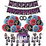 Decoracion Cumpleaños de Friday Night Funkin Globos Feliz Cumpleaños del Pancarta Adornos de Pastel para Niños Adultos Juegos Decoraciones de Fiesta
