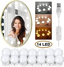 Hollywood Espejo Luces con engranaje Brillo ajustable Atenuador t/áctil para maquillaje y espejo de tocador Espejo LED Luces Cable USB