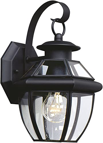 high quality Sea Gull Lighting 8037-12 Lancaster Outdoor discount Wall Lantern Outside Fixture, One popular - Light, Black outlet online sale