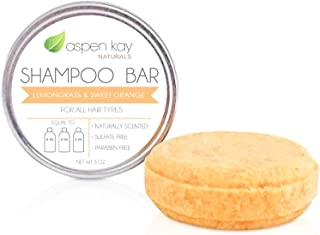 Solid Shampoo Bar, Made With Natural & Organic Ingredients, Sulfate-Free, Cruelty-Free & Vegan, All Hair Types, 3 Ounce Bar
