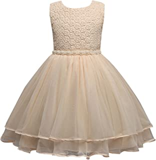51c7c1da8 FantastCostumes Tulle Pageant Embroidered Princess Lace Flower Girl Wedding  Dresses