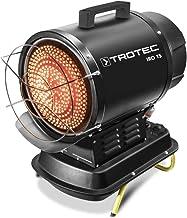 TROTEC Calefactor de Fueloil por Radiación Infrarroja IRO 15, Bajo Consumo, 20 kW, Sin Movimiento de Aire, Pantalla LED, Anti Sobrecalentamiento, Portátil, Negro, Oficina, Hogar