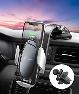 Wireless Car Charger Mount, PaiTree [Power Storage Technology] Automatic Sensor Car Phone Holder and Charger for Car Dashboard Air Vent, 10W Qi Fast Charging for iPhone 11 Pro Max/XS/XR, Samsung S10+