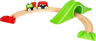 BRIO World - 33726 My First Railway Starter Pack   9 Piece Train Toy with Accessories and Wooden Tracks for Kids Ages 18 Months and Up