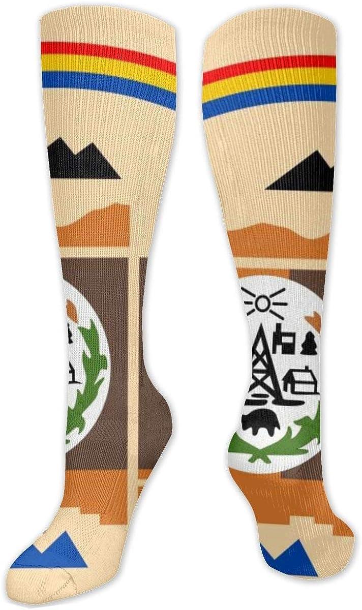 Navajo Flag Knee High Socks Leg Warmer Dresses Long Boot Stockings For Womens Cosplay Daily Wear