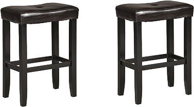 Miraculous Amazon Com Beige Backless Stools Excel Your Home Decor Inzonedesignstudio Interior Chair Design Inzonedesignstudiocom