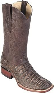 Genuine Crocodile Belly Sanded Brown Wide Square Toe Los Altos Men's Western Cowboy Boot 8228235