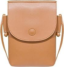 akaddy Women Mini Crossbody Bags PU Leather Pouch Shoulder Cell Phone Purse Wallet