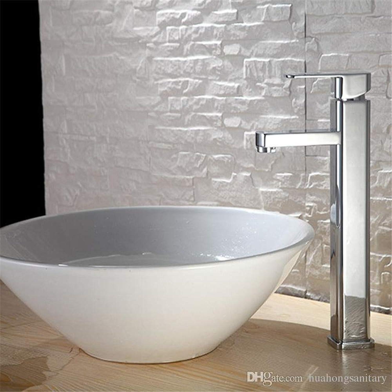 Decorry Hohe Wasserhahn Hohe Rundes Badezimmer Spüle Mischbatterie Chrom Poliert Spritz Messing Warme Und Kaltes Wasser
