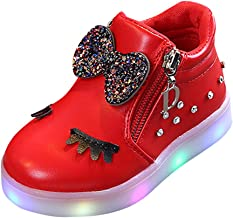 Londony LED Fashion Sneakers Kids Girls Boys Light Up Wheels Skate Shoes Comfortable Mesh Surface Roller Shoes Gift Red