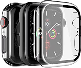 LK [2 Pack] Case for Apple Watch 40mm SE/Series 6/5/4, [Model No. LK3356], Built-in Tempered Glass Screen Protector, Hard ...