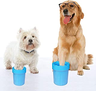Salmophy Paw Cleaner for Pet Dog Muddy Brush Washer Cup Large
