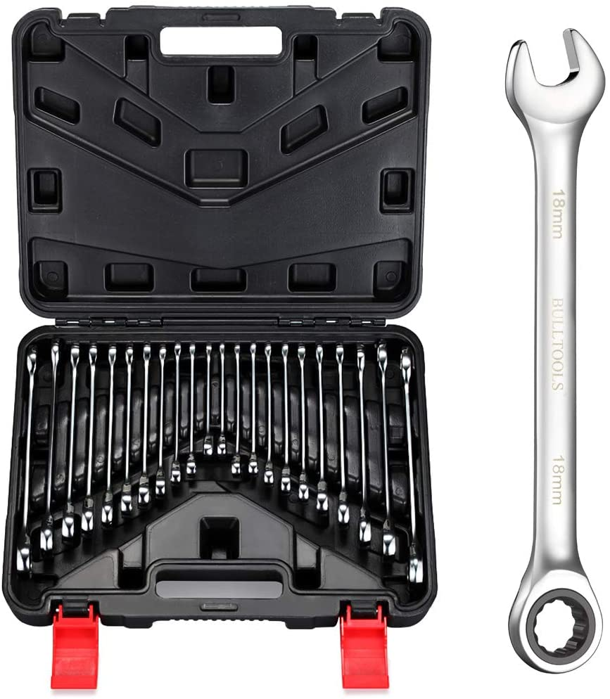 BULLTOOLS Outlet ☆ Free Shipping Max 59% OFF 22-Piece Ratchet Wrenches Chrome Steel Ratche Vanadium