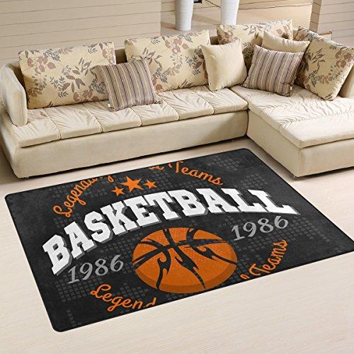 coosun Basketball Emblem Bereich Teppich Teppich rutschfeste Fußmatte Fußmatten für Wohnzimmer Schlafzimmer 78,7x 50,8cm, Textil, multi, 31 x 20 inch