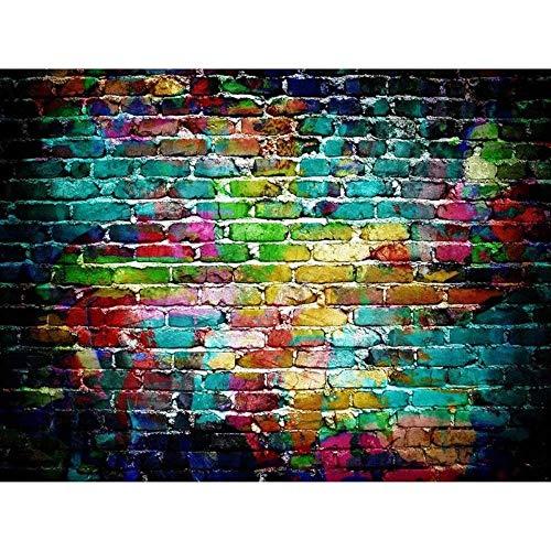 WENGE Kleurrijke baksteen textuur fotografie achtergrond doek plaat achtergrond decor achtergrond