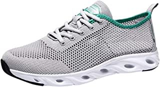 Lailailaily Men's Summer Hollow Mesh Breathable Sneakers Non-Slip Wear-Resistant Shoes