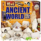 XXTOYS Egyptian Mummy Dig Kit for Kids Break Into 10 Bricks Fossils Excavation Set Interactive Excavating Toys Great Birthday Gift Idea, Contest Prize for Boys and Girls
