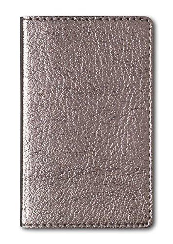 Adressbuch Mini Glamour Bronze - Notizbuch / Taschenplaner (6,5 x 10,5) - 112 Seiten