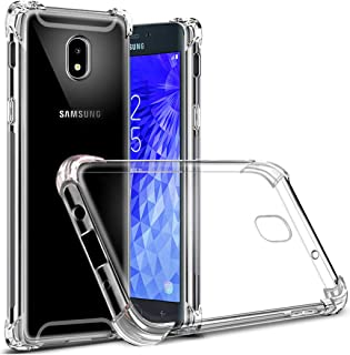 Osophter Compatible with Samsung Galaxy J3 2018 Flower Case,Samsung J3 Star Floral Case J3 Achieve/J3 Orbit Case Flexible TPU Rubber Soft Silicone Galaxy J3 V 3rd(Clear)