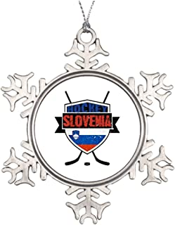 Butter Tisse Best Friend Snowflake Ornaments Slovenia Ice Hockey Shield House Decor Ideas
