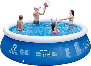 Super11Six 10201 Piscina sobre Suelo de facil instalacion- con Bomba de Aire- Redonda Nadar Piscina- 2300 litros- 240 × 63 cm- hasta Cinco Personas-Azul