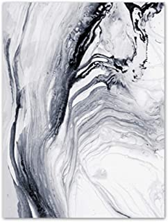 Abstract Water Wall Art Prints Black and White Poster and Print Flowing Water Wall Decor Wall Art Picture for Living Room Bedroom Home Wall Decoration (Set of 1) 12x16 inch Unframed