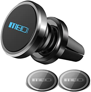 Air Vent Phone Holder, MEIDI Universal Magnetic Phone Car Mount 360 Rotation Cell Phone GPS Holder Compatible iPhone Samsung HTC and Mini Tablets(Black)
