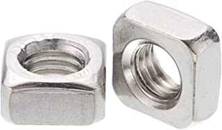 100pcs 304 Stainless Steel Square Nuts M8 DD-life