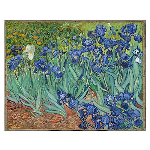 BGFDV Pintura al óleo del Pintor Van Gogh sobre Lienzo de Iris, Carteles e Impresiones en la Pared, el Cuadro artístico para la Sala de Estar