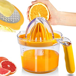PAMISO Lemon Orange Manual Juicer, Citrus Juicer Manual 20OZ for Drinks(Upgrade)