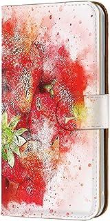 手帳型 カードタイプ スマホケース LG V20 PRO L-01J 用 [水彩画・ストロベリー] ビンテージ デッサン エルジー ブイトゥエンティ プロ docomo スマホカバー 携帯ケース スタンド vintage 00r_162@06c