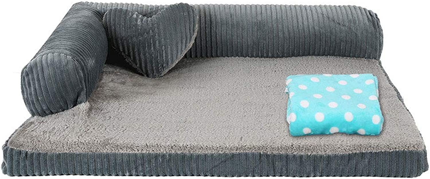 HQSB Corduroy Pet Bed for Cats Dogs,Soft Comfy Washable Cat Dog Bed with Removable Cushion Four Seasons Avilable (color   V, Size   S)
