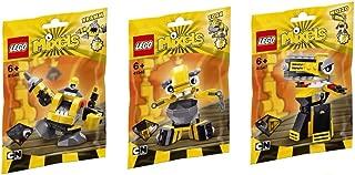 LEGO, Mixels Series 6 Bundle Set of Weldos, Kramm (41545), Forx (41546), and Wuzzo (41547)