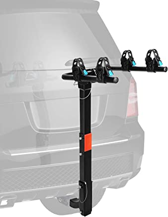 XCAR 2/4 Bike Bicycle Hitch Mount Carrier Rack Heavy Duty for Cars, Trucks, SUV's Hatchbacks with 2 Hitch Receiver