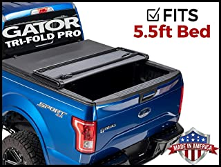Gator Pro Tri-Fold (Fits) 2009-2014 Ford F150 5.5 FT Bed Only Soft Folding Tonneau Truck Bed Cover (GSF0319) Made in The USA