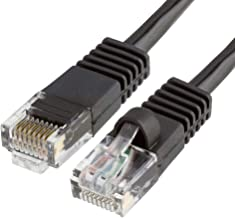 CMPLE Cat5e Network Ethernet Cable - Computer LAN Cable 1Gbps - 350 MHz, Gold Plated RJ45 Connectors - 25 Feet Black