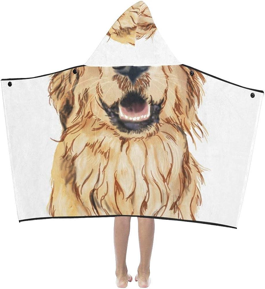 Hooded Blanket 55% OFF Girls Cute Yellow Kids Pet Retriever half Golden Smile