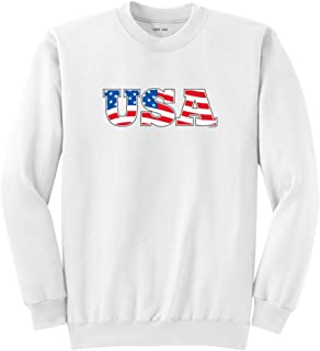 Red White & Blue USA Flag 4th of July Logo T-Shirts,Tanks and Hoodies