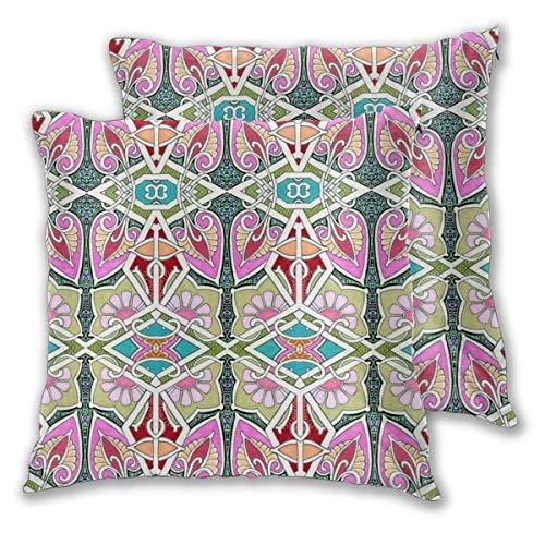 Funda de almohada moderna geométrica para jardín, decoración diaria, funda de cojín con cremallera, almohada lumbar para regalo de casa, sofá, cama, coche, 45,7 x 45,7 cm.
